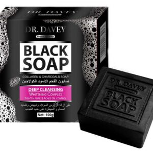 DR. DAVEY Collagen & Charcoals Black Soap - 100 GM