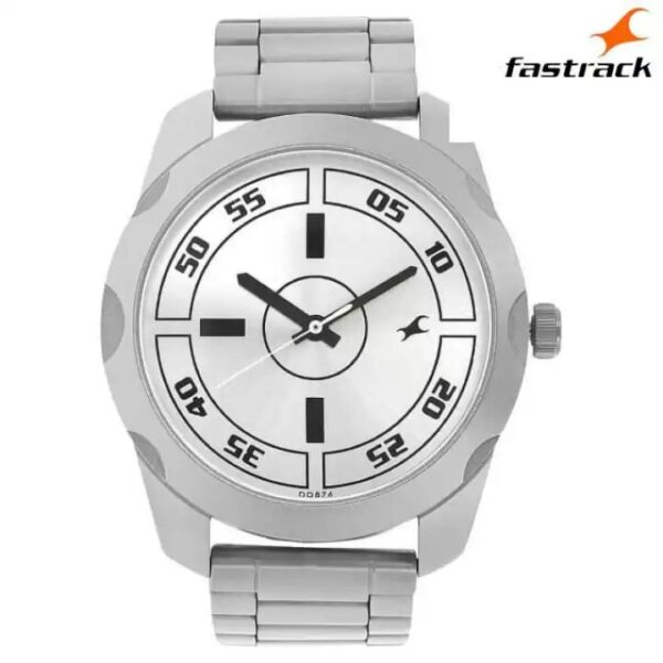 Fastrack 3123SM02 Silver Dial Analog Watch For Men