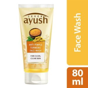 Lever Ayush Facewash Anti Pimple Turmeric 80 ml