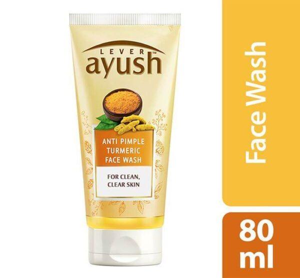 Lever Ayush Facewash Anti Pimple Turmeric 80 ml