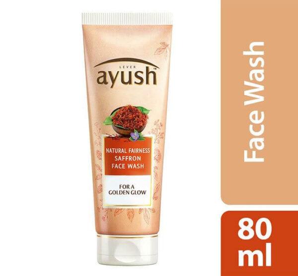 Lever Ayush Facewash Natural Fairness Saffron 80 ml