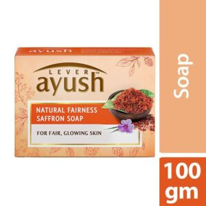 Lever Ayush Soap Bar Natural Fair Saffron 100g