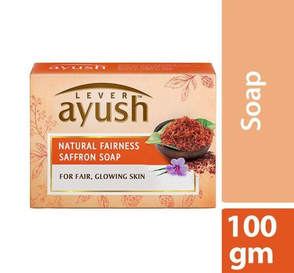 Lever Ayush Soap Bar Natural Fair Saffron 100g