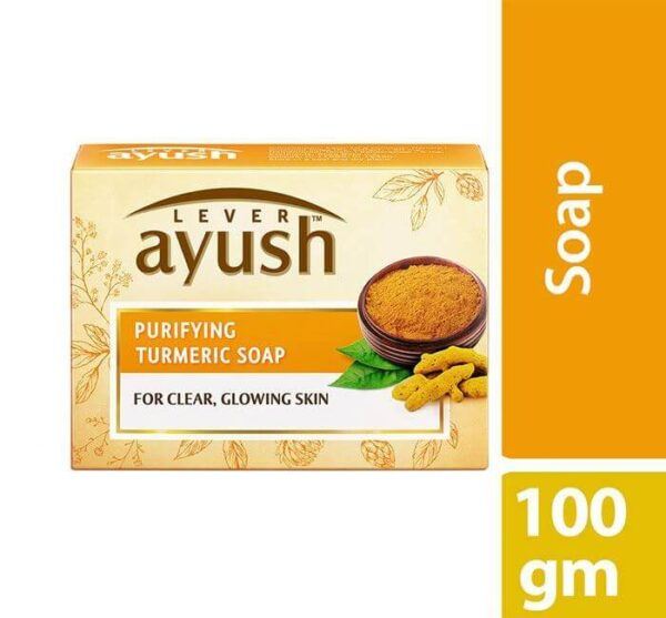 Lever Ayush Soap Bar Natural Purifying Turmeric