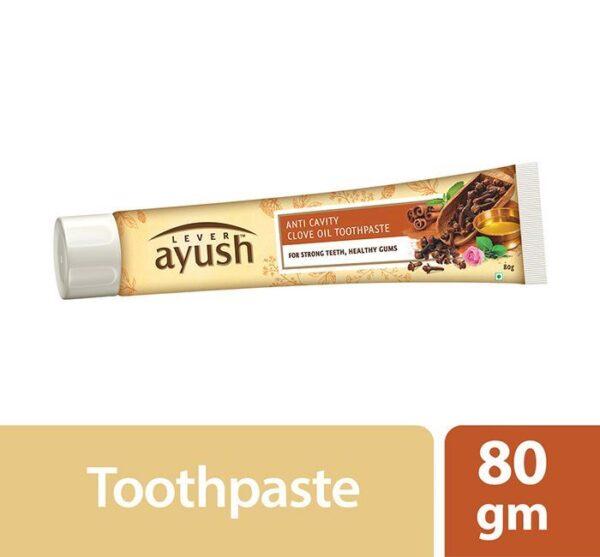 Lever Ayush Toothpaste Anti Cavity Clove Oil 80g