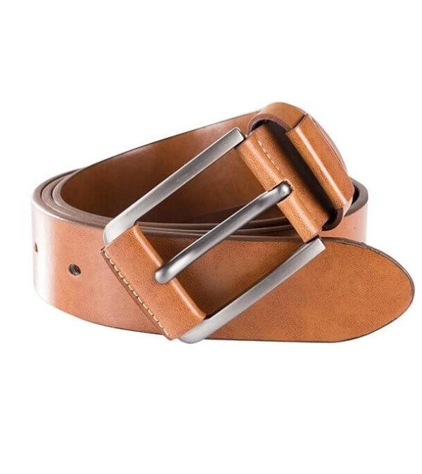 Men Mixed Leather Formal Waist Belt