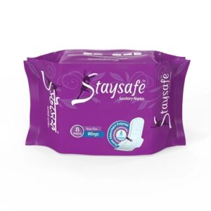 Staysafe Sanitary Napkin Heavy Flow Wings 08 Pads
