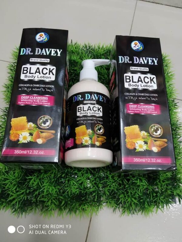 dr davey black body lotion
